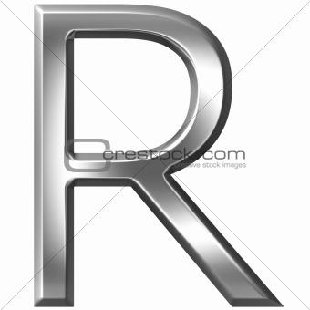 3D Silver Letter R