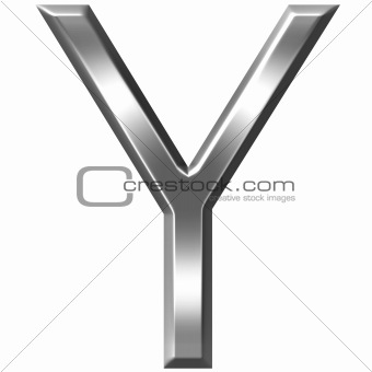 3D Silver Letter Y