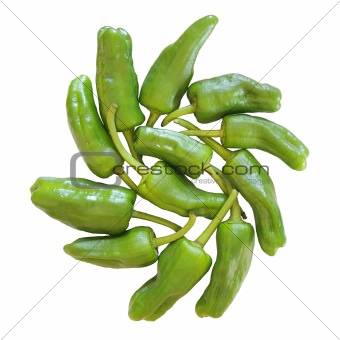 Green Peppers isolated