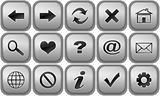 Set of buttons for internet browser