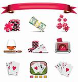 Vector gambling icon set. Part 1 (on white)