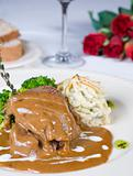 Camel steak in gravy a la carte meal