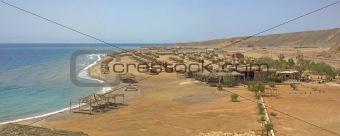 Beach camp in a tropical resort