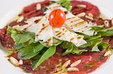 Beef carpaccio a la carte meal