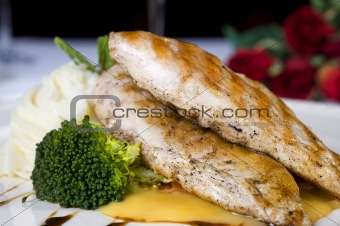 Grilled chicken breast a la carte meal