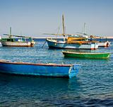 Local egyptian fishing boats
