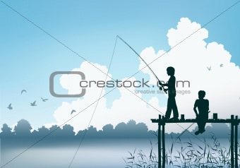 Fishing scene