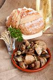 Champignon and French bread