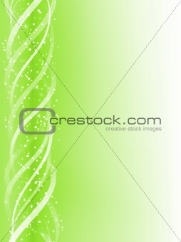 Green Colorful Glowing Lines Background.