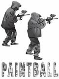 Players in a paintball