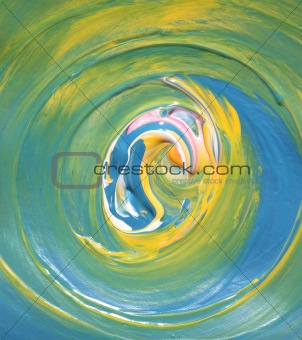 Abstract hand painted art