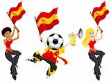 Spain Soccer Supporters.