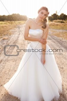Bride in a Rural Landscape