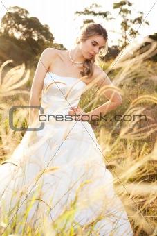 Bride in a Rural Landscape