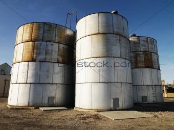 Three silos.