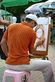 Draws the girl