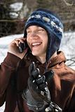 Teen talking on phone.