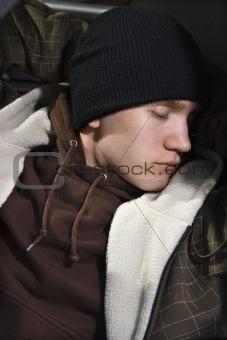 Sleeping teen.