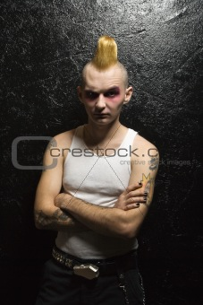 Portrait of male punk.