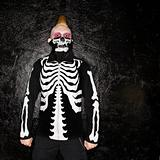 Punk with skeleton costume.