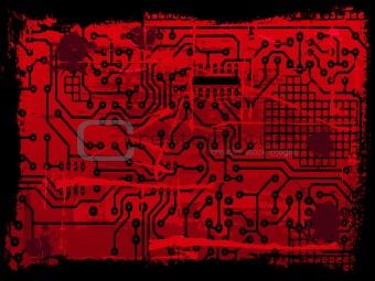 Grunge Circuit Board effect