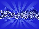 Retro Blue circles
