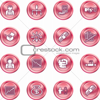 Business web icon set