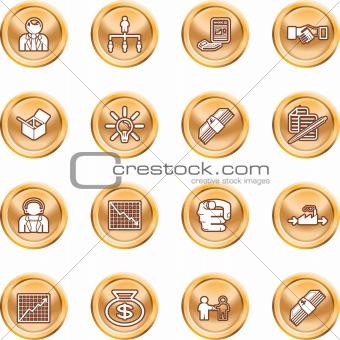 Business web icon set