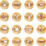 Food Icon Button Series Set