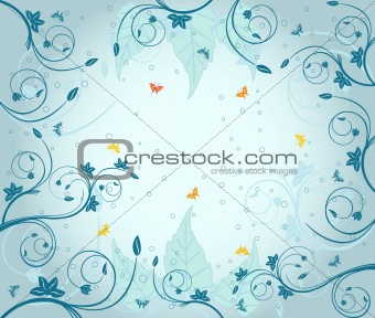 Abstract floral vector illustration