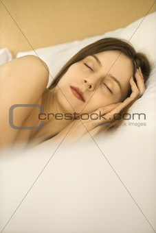 Sleeping woman.