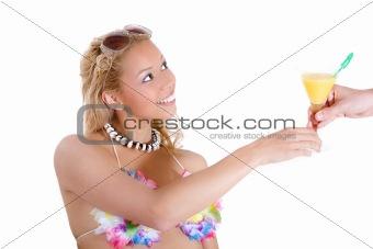 Beachbabe getting served