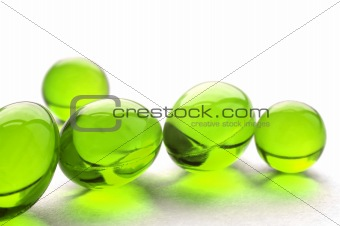 Abstract pills in green color