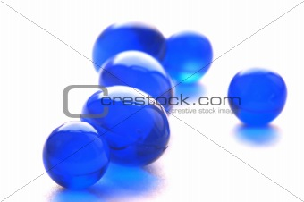 Abstract pills in blue color
