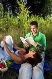 couple reading a book
