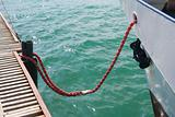 Ship ropes tied
