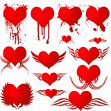heart gothic blood