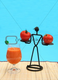 Tomato juice by the pool
