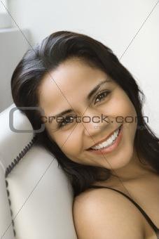 Hispanic woman portrait.