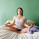 Young woman meditating.