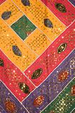 Colorful patterned fabric.