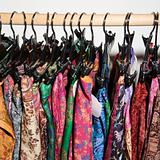 Colorful clothes  on rack.
