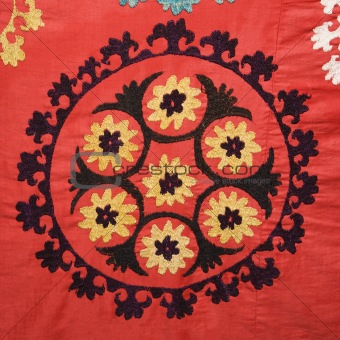 Asian textile pattern.