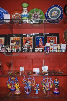 Folk art in store.
