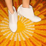 Pair of female feet.