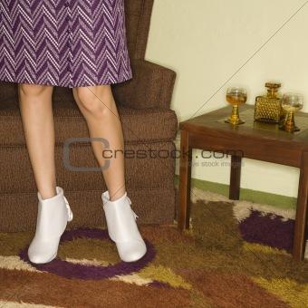 Pair of female legs.