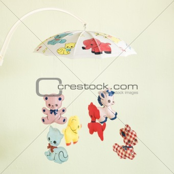 Vintage baby mobile.