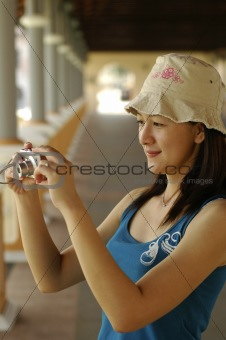 Asian Lady With Camera