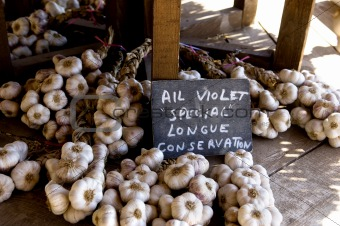 Garlic on the market