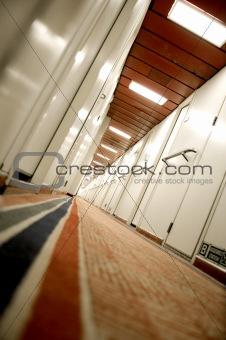 A hotel's corridor